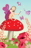 Fairy on toadstool