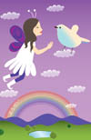 Fairy over the rainbow
